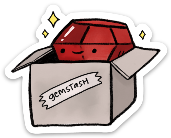 gemstash ruby box sticker 3-pack