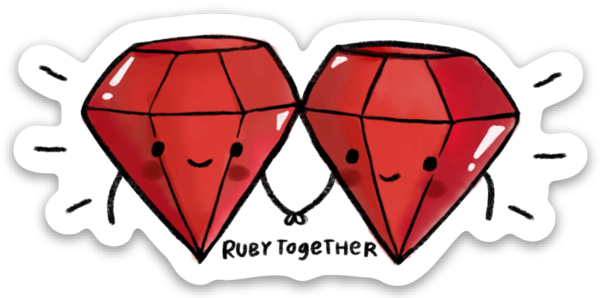 ruby friends sticker 3-pack