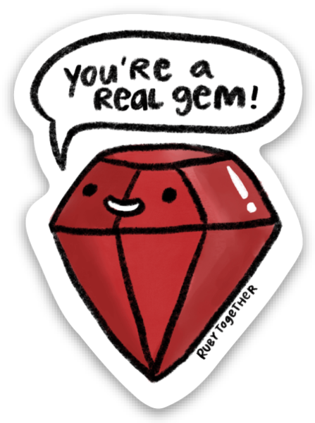 real gem sticker 3-pack