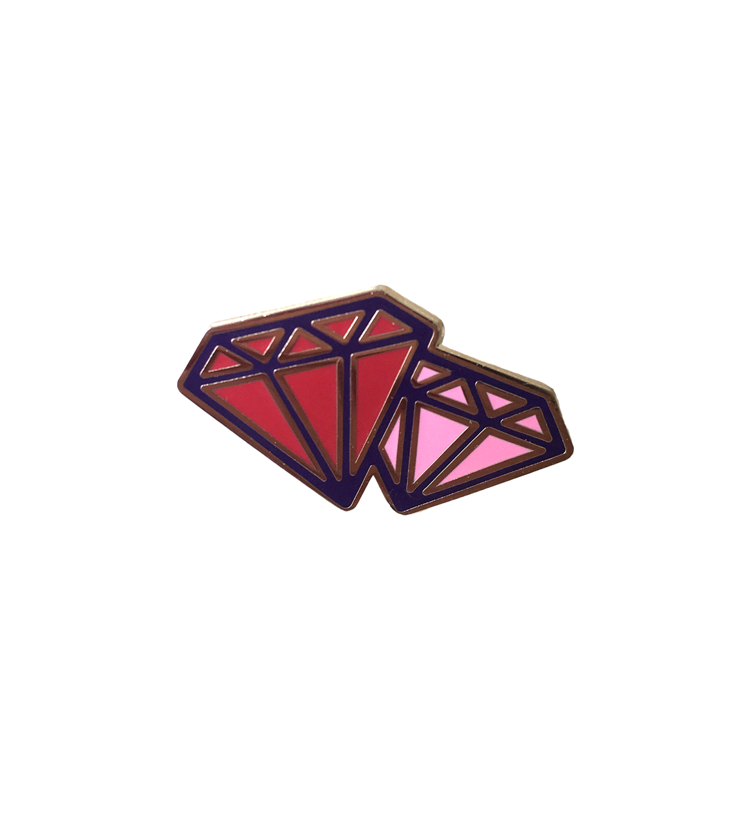 ruby together lapel pin