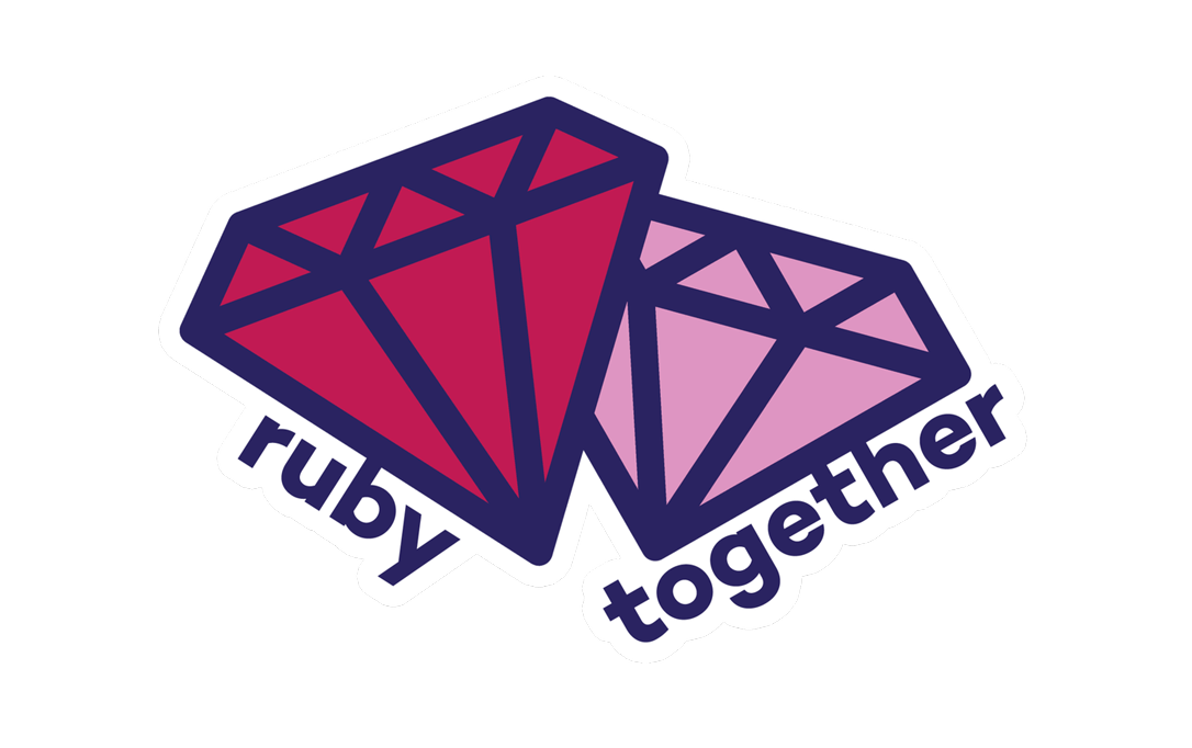 ruby together sticker 3-pack