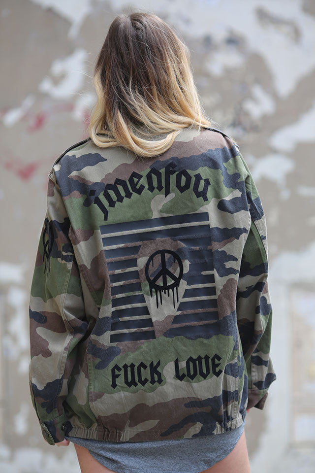 military jacket fuck love jmenfou