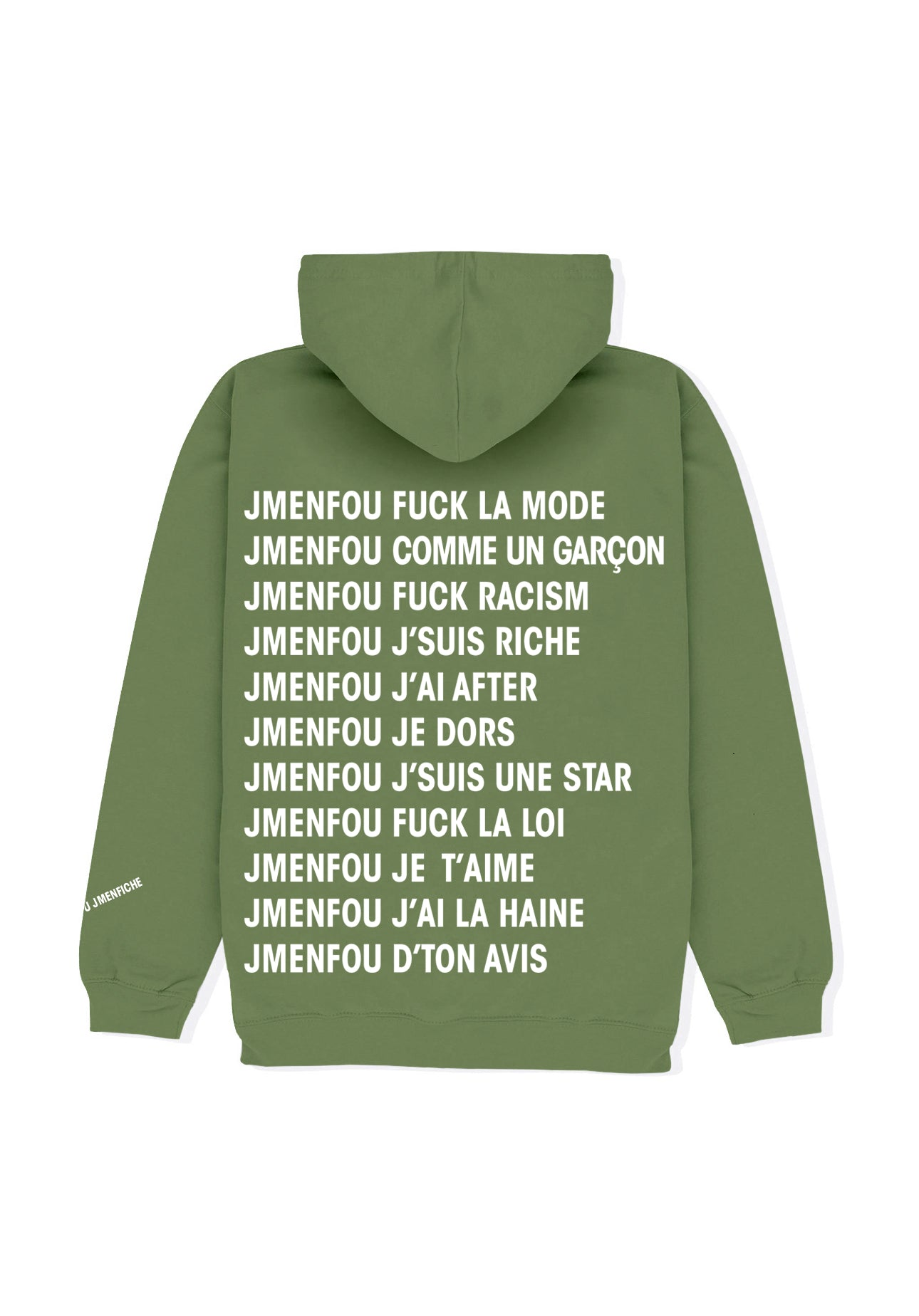 HOODIE RIGHT THINKS GREEN FRONT