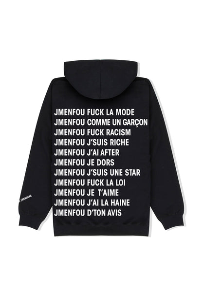 HOODIE RIGHT THINKS BLACK FONT