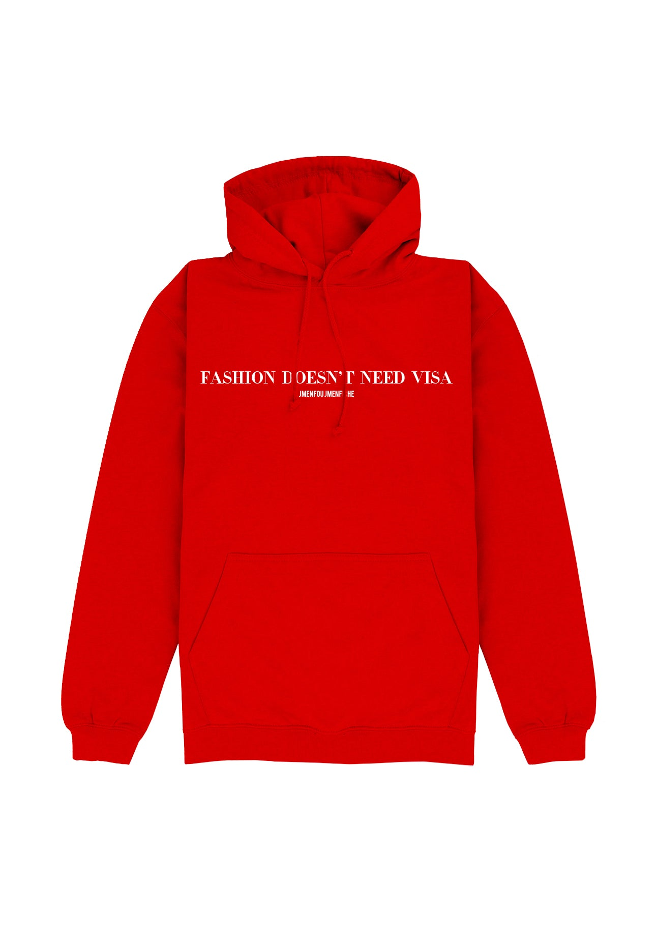 HOODIE FDNV RED FONT