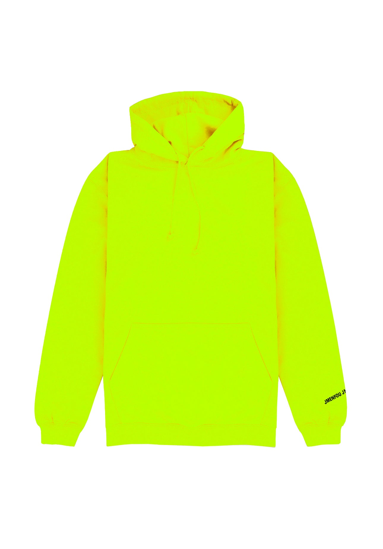 HOODIE RIGHT THINKS SAFETY YELLOW