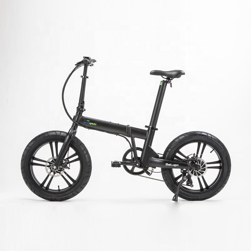 Qualisports Beluga - Electric Folding Fat Tire Bike