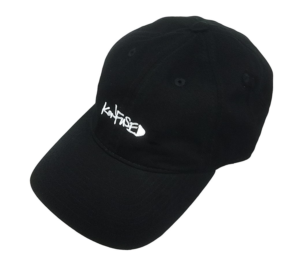 Konfused Script Dad Hat - Black