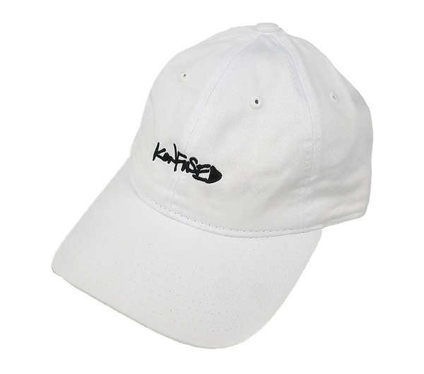 Konfused Script Dad Hat - White