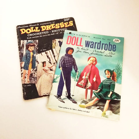 Lot of Two Vintage Doll Clothes Pamphlets Pattern Booklets - Attic and Barn Treasures