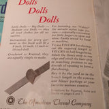 Lot of Two Vintage Doll Clothes Pamphlets Pattern Booklets