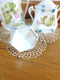 Vintage German Lusterware Teapot, Sugar and Creamer 1308 Hydrangeas - Attic and Barn Treasures