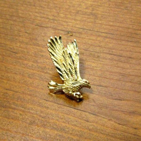 1985 Vintage 14K Gold Landing Eagle Charm Pendant - Attic and Barn Treasures