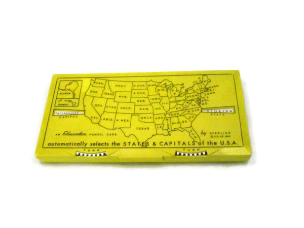 1960 Educator Pencil Case Featuring States And Capitals