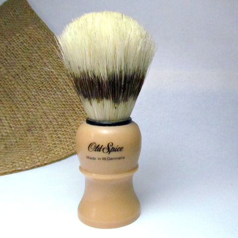 Vintage Old Spice Shaving Brush W. Germany Butterscotch color - Attic and Barn Treasures