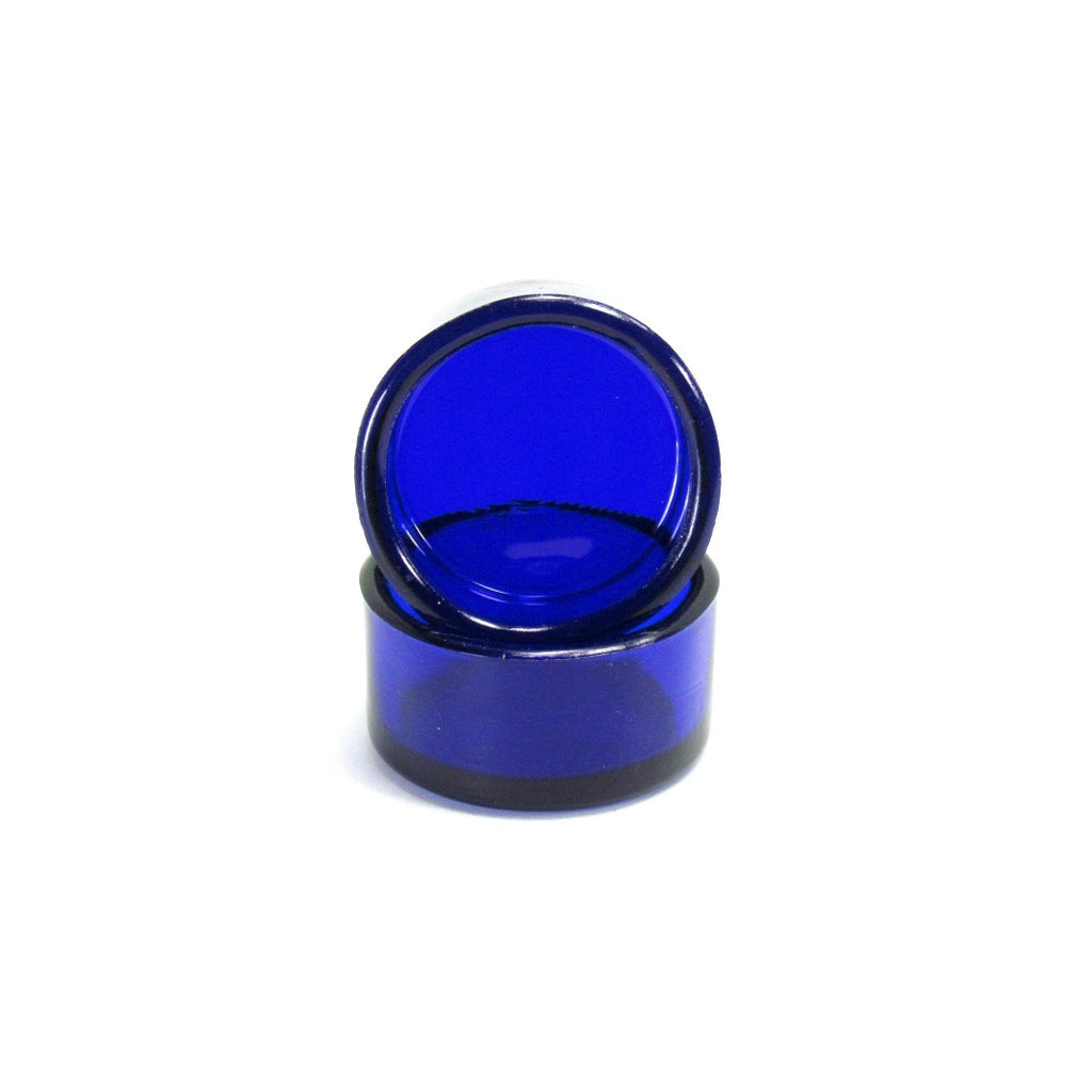 Cobalt Blue Vintage Salt Cellar Dip Pair - Attic and Barn Treasures
