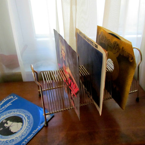 45 rpm Vintage Wire Record Rack Holder - Attic and Barn Treasures