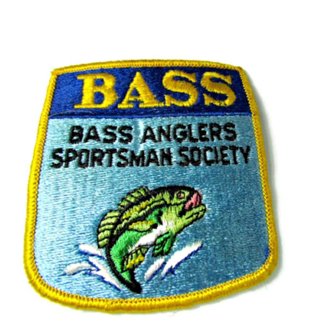 Vintage Bass Anglers Society Embroidered Patch Bassmasters - Attic and Barn Treasures