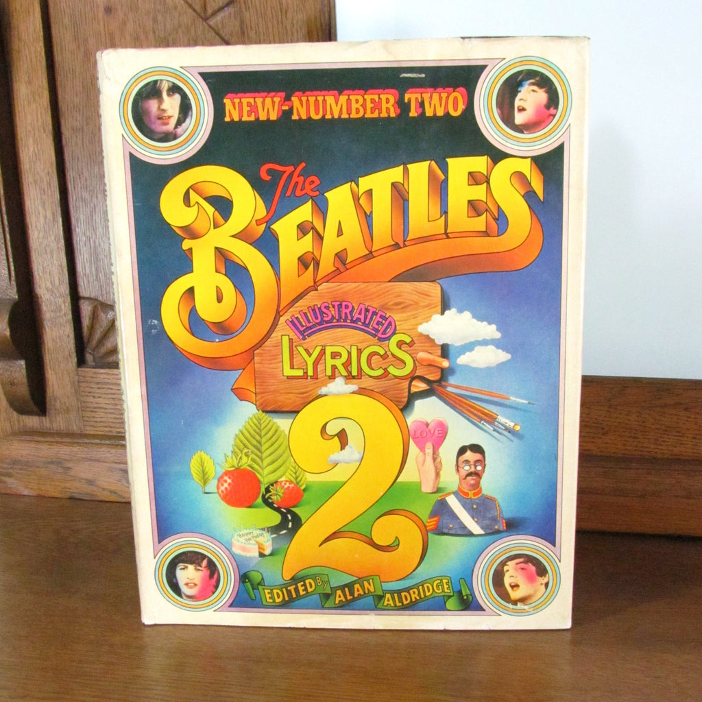 Vintage 1971 The Beatles Illustrated Lyrics 2 Hardcover Book - Attic and Barn Treasures