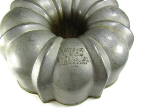 Authentic Vintage Bundt Fluted Tube Cake Pan By Northland