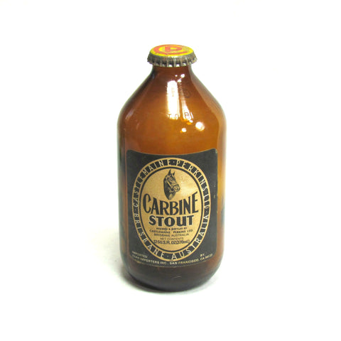 Vintage Carbine Stout Brown Bottle with Original Cap