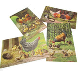 Set of 4 Vintage German Carte Postale Postkarte Postcards Barn Yard Scenes - Attic and Barn Treasures