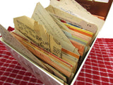 Vintage Mid Century Recipe Box Cook Index with Recipes - Attic and Barn Treasures