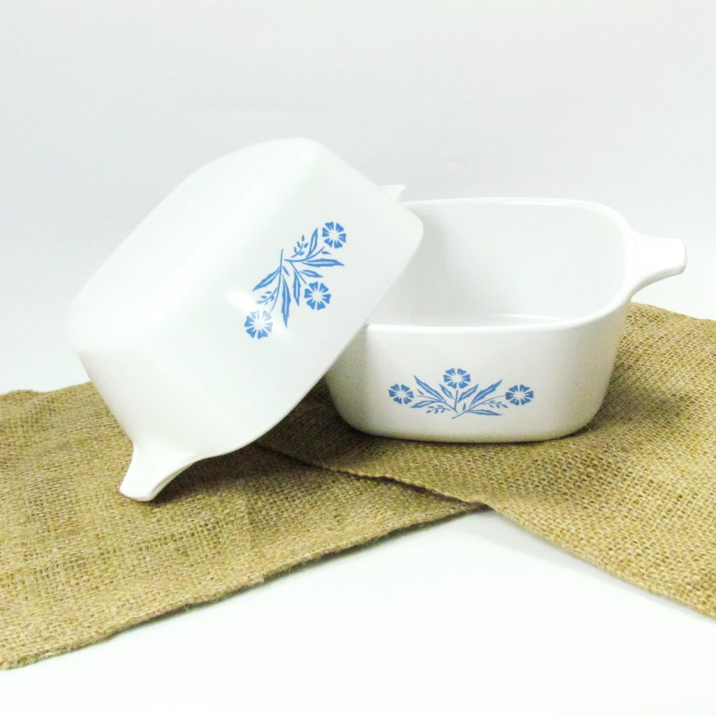 Vintage P43B Cornflower Corning Ware Casserole Dishes - Attic and Barn Treasures