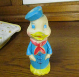 Vintage 1970 Rubber Duck Toy in Sailor Coat and Hat - Attic and Barn Treasures