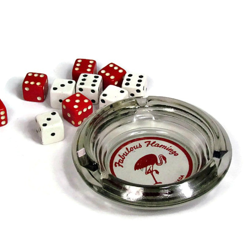 Vintage Flamingo Hotel Las Vegas Ashtray with Dice - Attic and Barn Treasures
