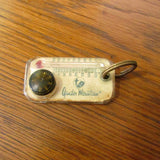 Vintage Gander Mountain Keyring with Compass and Thermometer c. 1970's - Attic and Barn Treasures