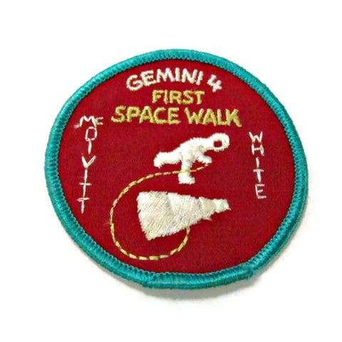 Original Vintage Gemini 4 First Space Walk Sew On Patch - Attic and Barn Treasures