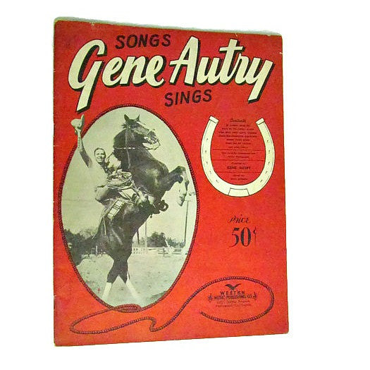 Vintage Gene Autry Sings Song Book c.1942 - Attic and Barn Treasures