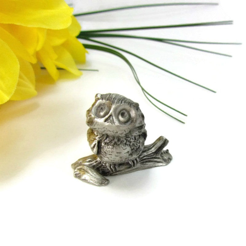 Miniature Vintage Pewter Owl by Hallmark - Attic and Barn Treasures