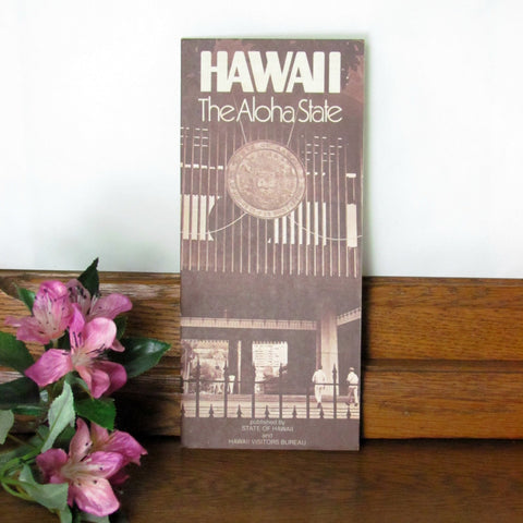 Vintage Hawaii Visitors Bureau Brochure 1981 - Attic and Barn Treasures