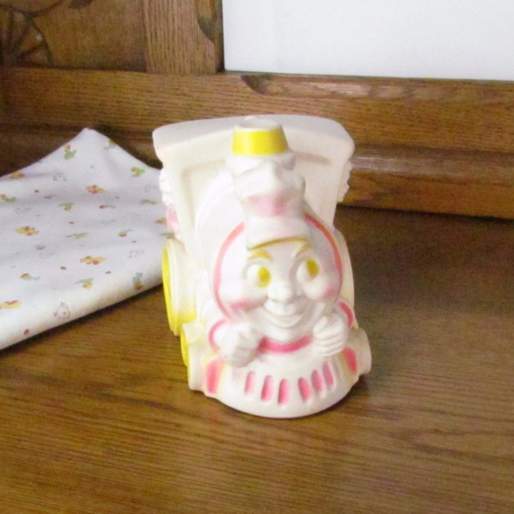 Vintage Train Engine Baby Squeaker Toy Circa 1963 - Attic and Barn Treasures