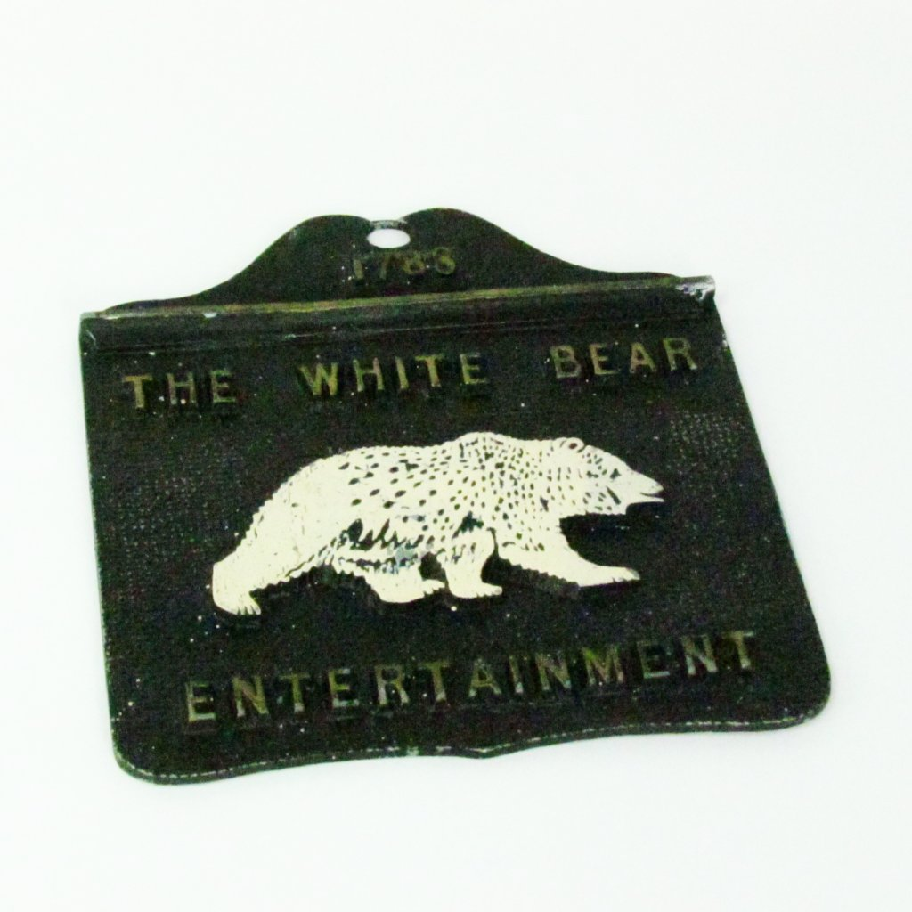 Vintage Pub Bar Wall Plaque White Bear Entertainment - Attic and Barn Treasures