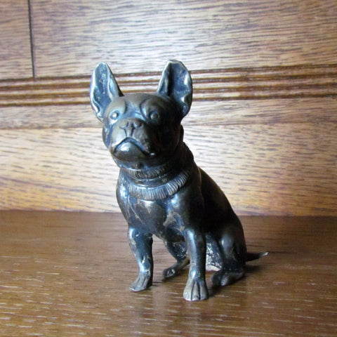 Vintage French Bulldog Figurine Cast Metal - Attic and Barn Treasures