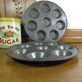 Two Vintage Round Baking Pans with Shallow Depression for Escargot - Attic and Barn Treasures