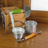 Vintage Kitchen Gadget Set Measuring Cup Strainer Melon Ball 4 Blade Chopper - Attic and Barn Treasures