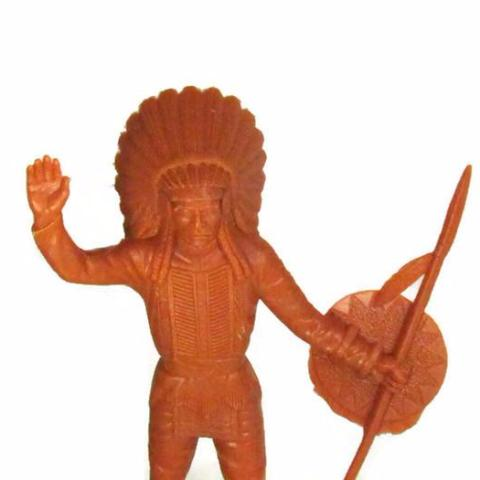 "Vintage Louis Marx 6"" Indian Chief Action Figure C. 1960s - Attic and Barn Treasures"