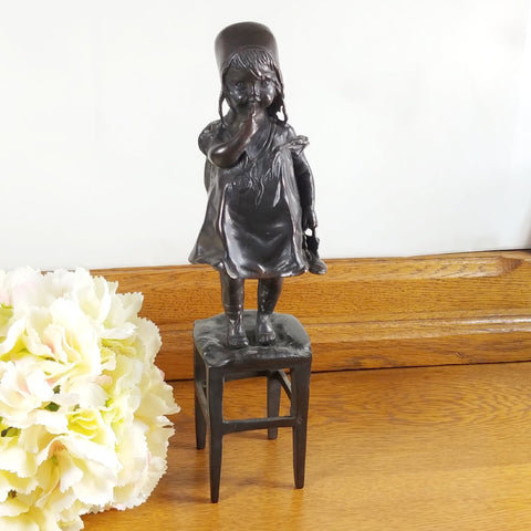 Vintage A Girl Juan Clara Sculpture Reproduction - Attic and Barn Treasures