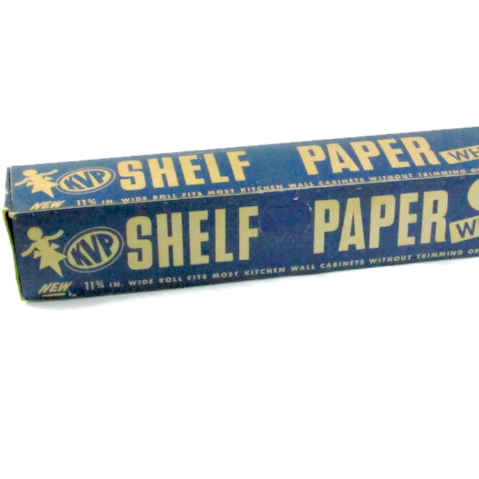 Vintage Kitchen Shelf Paper in Original Box KVP White Shelf Liner - Attic and Barn Treasures