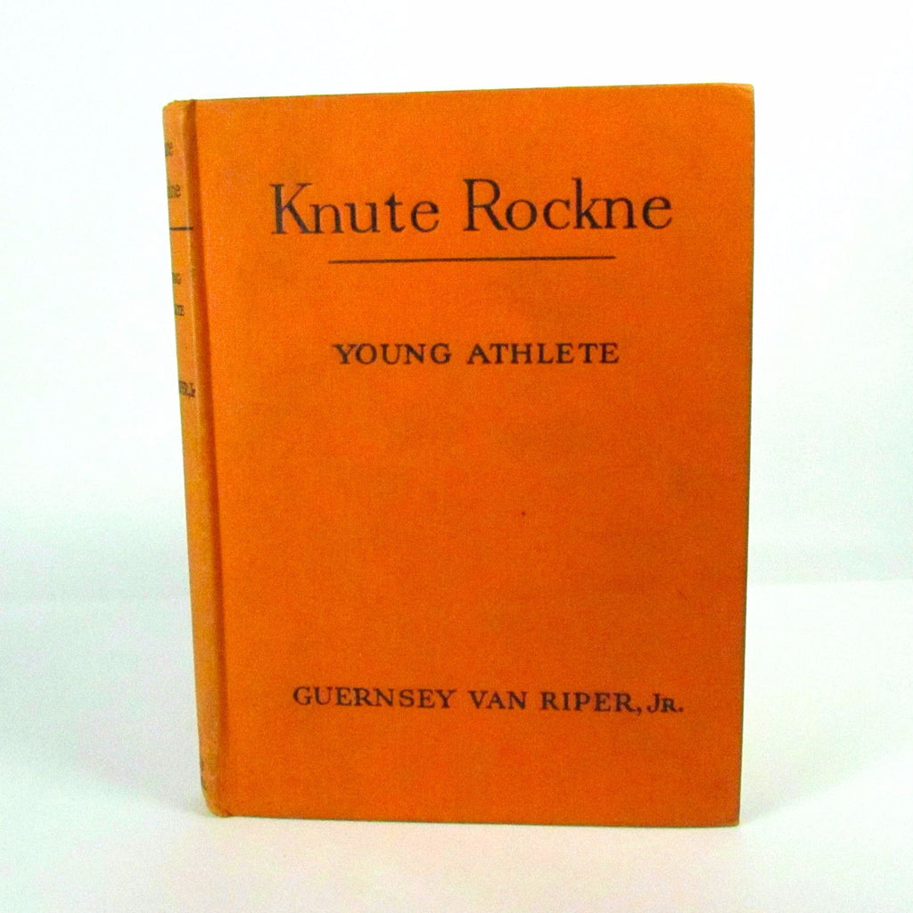 Vintage 1952 Knute Rockne Young Athlete Hard Cover book - Attic and Barn Treasures