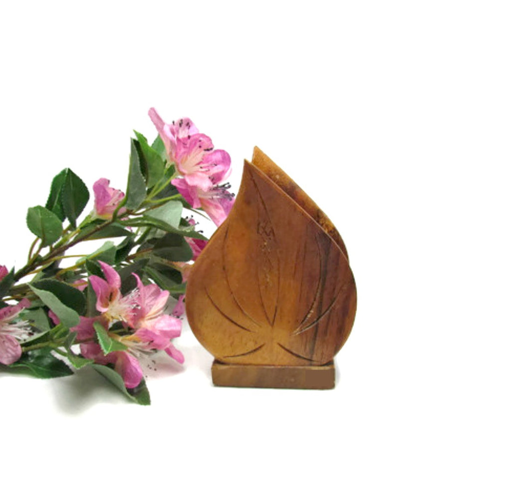 Vintage KOA Wood Mail or Napkin Holder Made In Hawaii - Attic and Barn Treasures