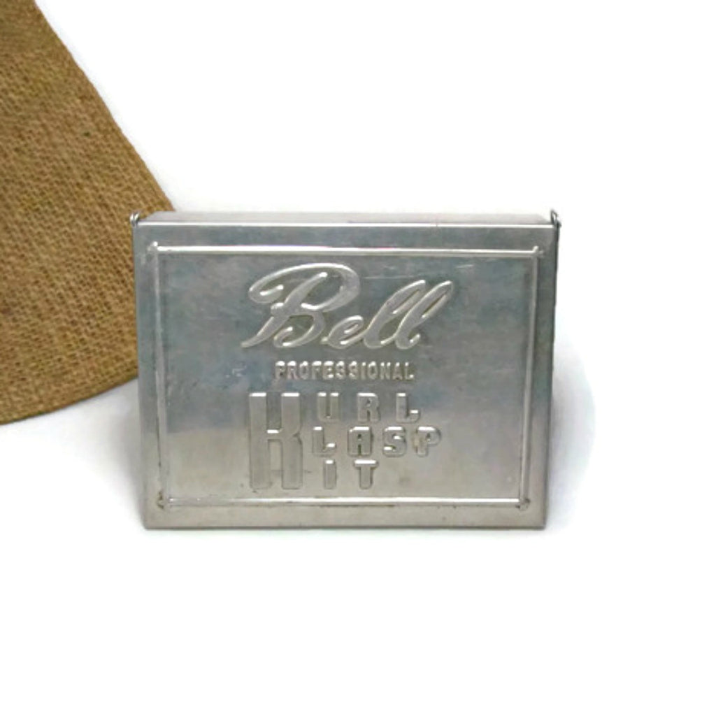 Vintage Bell Professional Kurl Klasp Kit Tin for Marcel Wave Hair Clips c.1930s - Attic and Barn Treasures