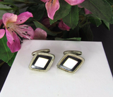 Vintage Mother of Pearl Diamond Shape Cuff Links - Attic and Barn Treasures