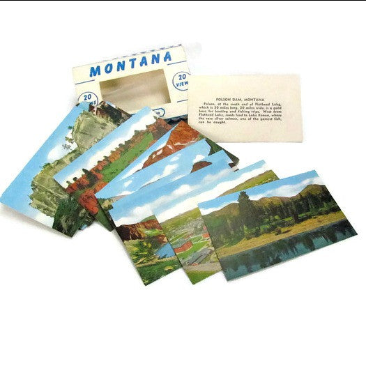 Vintage Montana Miniature Souvenir Photo Card Set 1950s - Attic and Barn Treasures