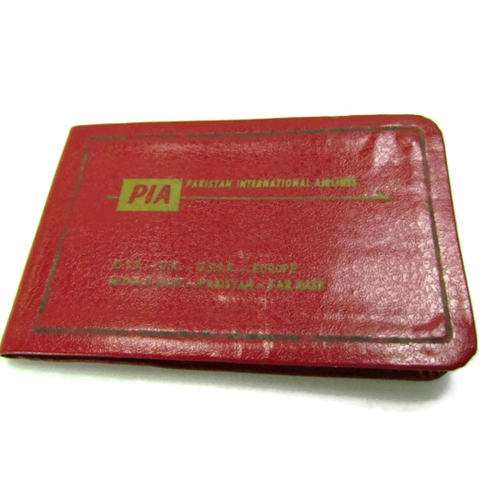 Vintage Pakistan International Airlines Souvenir Giveaway Address Book - Attic and Barn Treasures