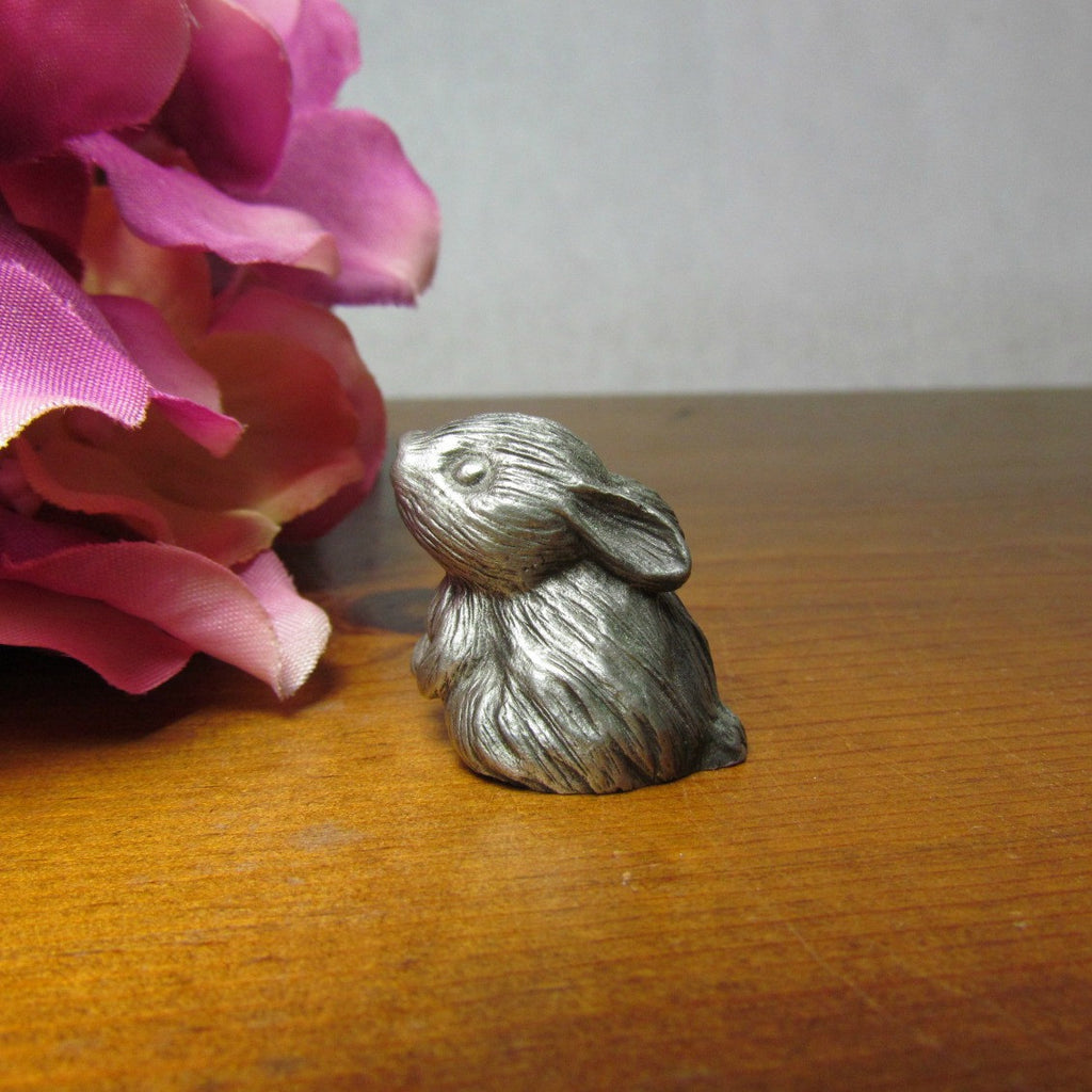 Vintage Bunny Rabbit Miniature in Fine Pewter by Hallmark - Attic and Barn Treasures